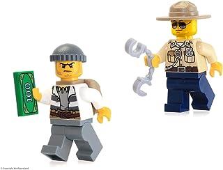 LEGO City Minifigura Combo: Policía de pantano (Crook Macho