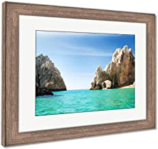 Ashley Framed Prints Sunny Lovers Beach in Cabo San Lucas Mexico, Wall Art Home Decoration, Color, 30x35 (Frame Size), Rustic Barn Wood Frame, AG6533836