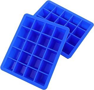 OSALADI 2pcs Ice Cube Trays Silicone Ice Cube Box Plastic Ice Mold Ice Making Tray Ice Cube Mold Square for Summer Home Ki...