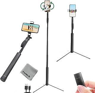 Gurmoir Handheld Extendable 60inch Bluetooth Selfie Stick Tripod Stand for iPhone 11/8/7/6/XS/XR/XS MAX/Galaxy S9/S9 Plus/...