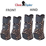 Classic Equine Small Legacy2 Horse Front Hind Sports Boots 4 Pack Cheetah