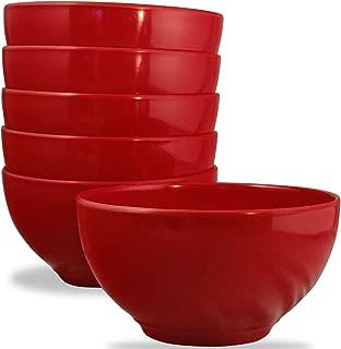 Calypso Basics by Reston Lloyd Melamine Bowl, Set of 6, Red