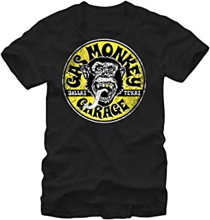 Gas Monkey Garage Equipped Gold Tooth Logo Adult T-Shirt