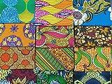 12 pezzi casuali di campioni di tessuto casual ispirati alla moda africana, realizzati in cotone, per cucito, quilt, patchwork, arti e mestieri, dimensioni: 56 cm x 45 cm o (12 pezzi)