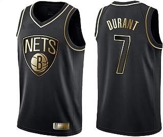 TGSCX NBA Schwarz Gold Edition Jersey - Kevin Durant # 7 Brooklyn Nets, kühle Breathable Gewebe Retro Swingman Sport-T-Shirts, Unisex Basketball-Trikot