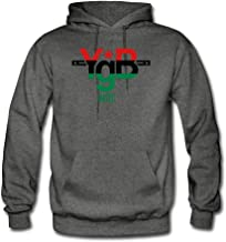 ATHLETE ORIGINALS Men's Hoodie by YgB United United YgB United – Pan African in #007 D44 (Flex Print) M Charcoal Gray