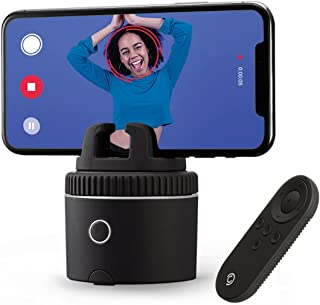 Pivo Pod Silver with Remote - Fast Auto Tracking Phone Holder Powered by AI - 360 Rotation Camera Stand - Active Lifestyle...