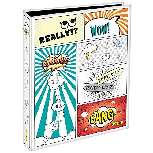 Online Schreibgeräte - Ringbuch Comic Style DIN A4, Rückenbreite 4 cm