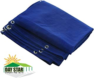 DAY STAR SHADES 8X16 (Blue) HD Mesh Tarp Net Sun Shade Fence Screen Patio Canopy Top