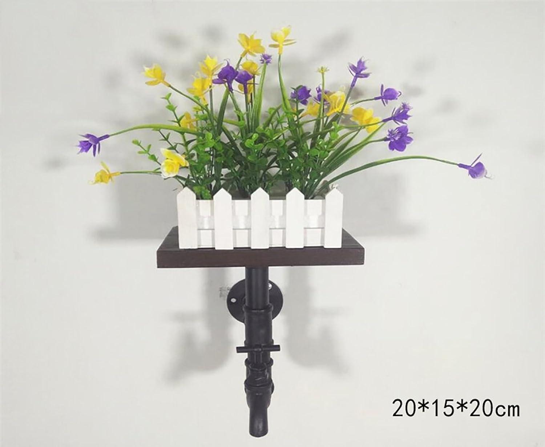 precio razonable Zhuangshijia Zhuangshijia Zhuangshijia Loft Retro Planta de tubería de Agua Estanterías Tabiques de Parojo Estanterías de Madera Maciza Estantes de Estilo Industrial  promociones de equipo