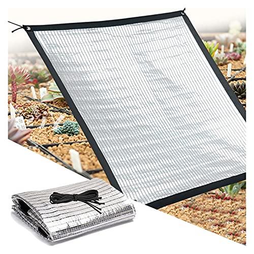 ALGFree Toldo Jardin Exterior,Papel De Aluminio Lona De Sombra,Tasa De Sombreado 75% Anti-UV Luz Solar Reflejada para Balcón Techo Invernadero Planta Jardín Patio, Enfriamiento De Protección Solar