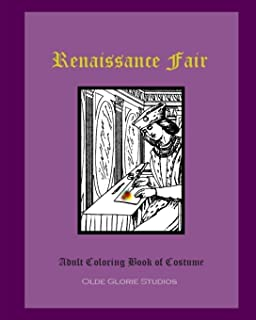 Renaissance Fair Adult Coloring Book of Costume
