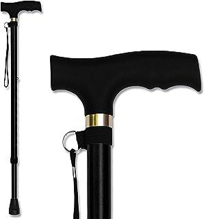 Trekking Poles Adjustable Folding Cane Walking Stick for Men Women Aged Portable Trail Poles Folding Cane with T Handle, L...