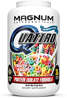 Magnum Nutraceuticals Quattro Fruity Hoops Lactose-Free Protein Powder for Men & Women (2 lbs.)
