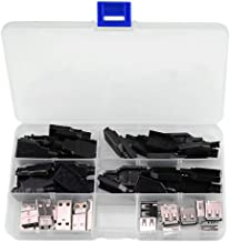 XLX 20Set Premium USB Connector with Shell Type-A Male(10SET) And Type-A A 2.0 Female 4 Pin Plug Connector jack Socket DIY(10SET)