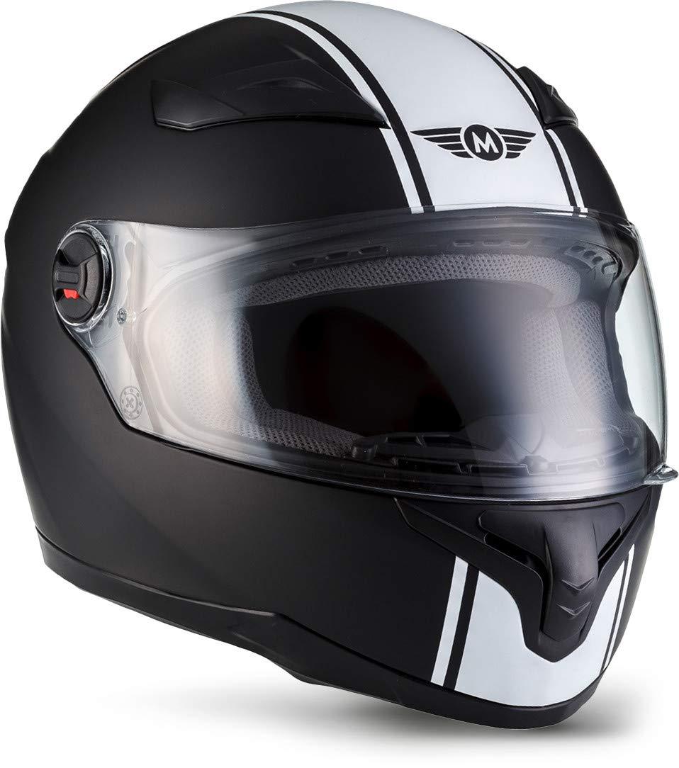 GXYS Motorrad Halbhelme Brain-Cap Halbschale Motorrad-Helm Jet-Helm Roller-Helm Scooter-Helm Mofa-Helm Retro Harley Motorrad Half Helm Mit Built-in Visier F/ür Cruiser Chopper,BrightBlack-S=(55~56cm)