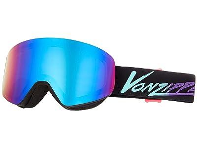 VonZipper Encore Goggle (Neo Miami Black Satin/Quaser Chrome Lens) Goggles