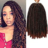 Urban Braidz Fluffy and Silky Ombre Spring Twist Hair Passion Twist Hair Crotchet Hair Marley Twist Hair Extensions for Braiding 12 inches M1B/350 (Lot of 3 packs) 160G/Pack