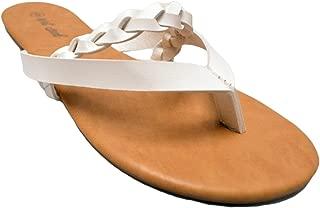Women's Basic Fashion Braided Strappy Gladiator Slide Sandal Flats