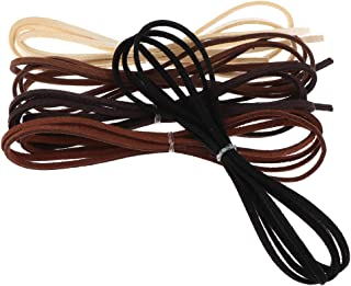 FITYLE 1 Meter Leather Cord Strings for Bracelet Necklace Beading Jewelry Making - Multicolor
