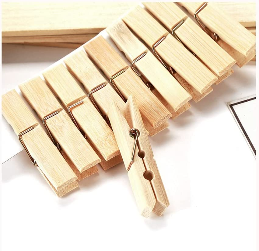 DEI Gifts QI 100 Pack Wooden Clothespins Max 50% OFF for Wood Clothes Pins Laundr