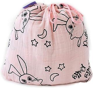 Milk&Moo Set of 2 Buzzy Bee Baby Muslin Swaddle Blanket (Pink)
