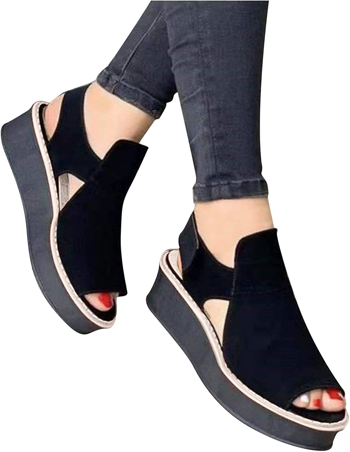 Hgndbloo Outdoor Sandals for Shoes Women Platform Max 71% Price reduction OFF Wedge