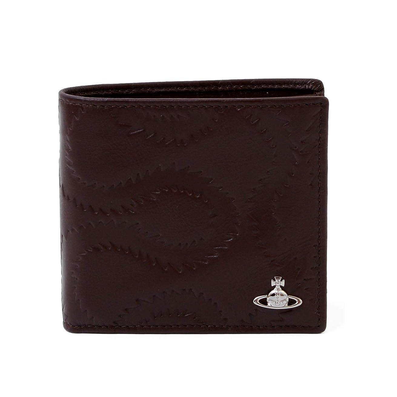 証明アセンブリ不測の事態[名入れ可] ヴィヴィアンウエストウッド Vivienne Westwood 正規品 BELFAST 財布 二つ折り財布 小銭入れあり 型押し ヴィンテージ 本革
