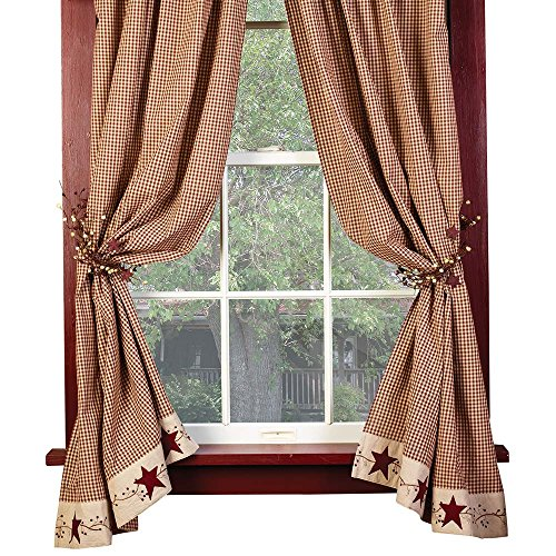 """Stars And Berries 63"""" Curtain Panels"""