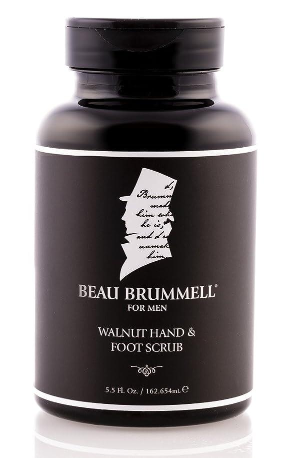 保険をかけるプラカード逃れるBeau Brummell 5.5 FL - 巧妙男性用スキンケアを配合天然クルミ殻を持つ男性ウォルナットハンド&フットスクラブアン効果的なハンド&フットエクスフォリエーターのため。オンス