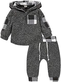 CPEI Toddler Infant Baby Boys Deer Long Sleeve Hoodie Tops Sweatsuit Pants Outfit Set