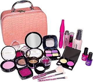 Arkmiido Trucchi Bambina Set 19 Pezzi Makeup Set di Cosmetici per Bambini Trucco Ragazza Giocattolo(Non Vero cosmetico)