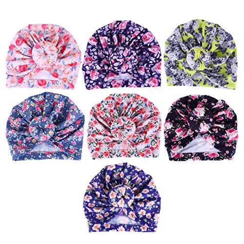 Lurrose - Gorras para bebé recién nacido (7 unidades), diseño de donut