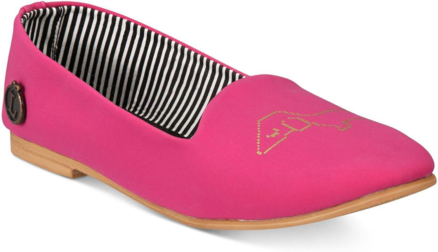 Loly in the Sky Womens Smart Harriet Rubber Closed Toe Loafers