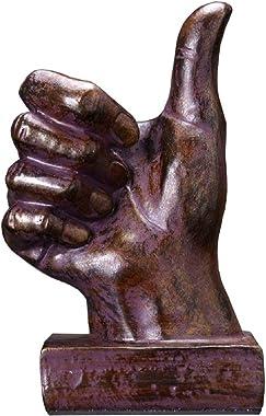 Creative Hand Sculpture Decor,Resin Finger Statue Sculpture Home & Office Desk Ornament (Thumbs up)