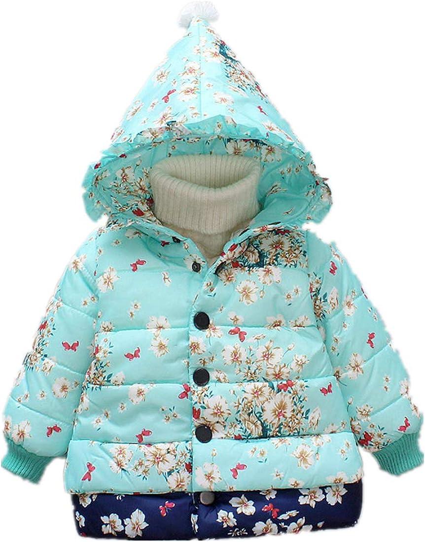 Nine Minow New Baby Girls Winter Surprise price Fixed price for sale Flower Cotton Autumn Warm Jacke