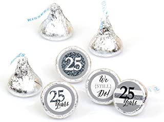 We Still Do - 25th Wedding Anniversary - Party Round Candy Sticker Favors – Labels Fit Hershey's Kisses (1 Sheet of 108)