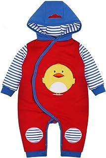 Vine Vine Baby Strampler Overall Winterjacke Onesie Unisex Cartoon Baby Strampelanzug mit Kapuze, 6-9Monate