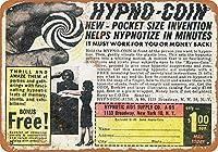 Hypno Coin 金属板ブリキ看板警告サイン注意サイン表示パネル情報サイン金属安全サイン