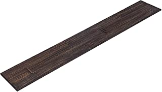 mywoodwall Non-Toxic DIY Wood Wall Paneling Brushed Grain Collection, Timeless Design, 100% FSC Certified Real Wood, Peel/Press Easy Installation, Anthracite, 10.1 sqf (7 Panels - 35-7/16
