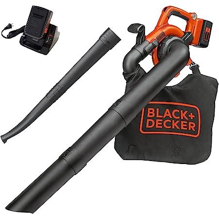BLACK+DECKER Leaf Blower/Vacuum Kit, Cordless (LSWV36), Orange