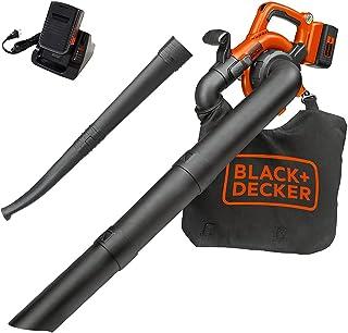 Barredora/Aspiradora de iones de litio de 40V Black and Decker, Incluye batería de 40V, Anaranjado