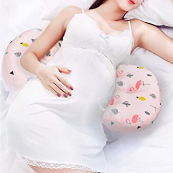 AIFUSI Pregnancy Pillow, Side Sleeper Maternity Belly Support Pillows Double Wedge for Both Bump and Back Best Pregnant Mom Gift