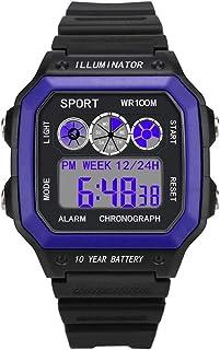 Electronic Digital Watch DZB14, Luxury Men Analog Digital Military Sport LED Waterproof Wrist Watch,Black