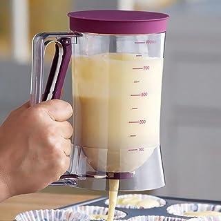 D DOLITY Cupcake Pancake Batter Dispenser 4 Cup Cake Mix Pastry Jug Baking Maker