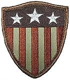 Captain America Shield Stars Stripes USA Flag Iron on Patch