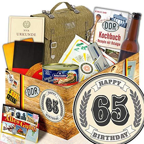 Geschenk 65. / NVA Geschenkbox / Geschenke 65 Geburtstag Mann lustig