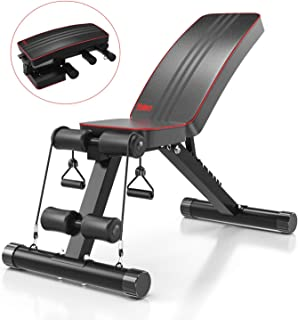 Yoleo Adjustable Weight Bench – Utility Weight Benches for Full Body Workout,..