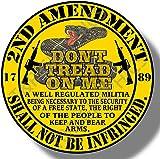 Decal 2nd Amendment Gun Sticker Don't Tread on Me for Car Bumper Truck Window Laptop Vinyl (3 in)