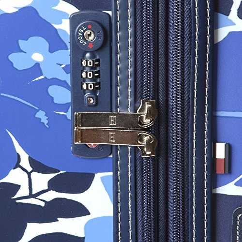 Tommy Hilfiger Hardside Spinner Luggage, Blue Floral